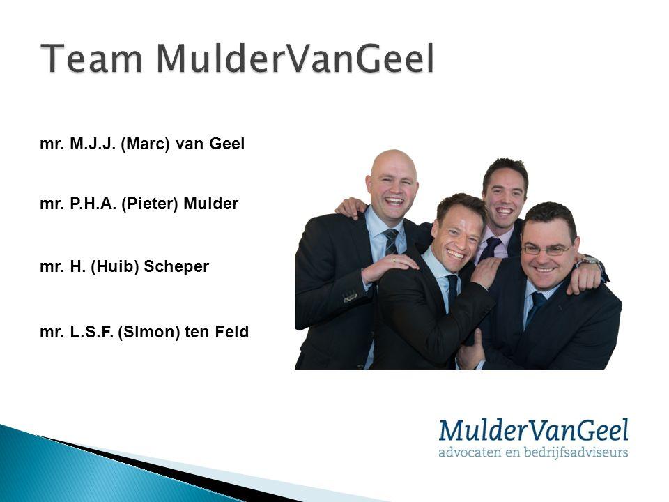 Team MulderVanGeel mr. M.J.J. (Marc) van Geel