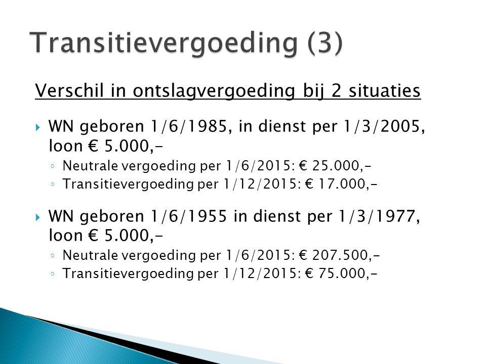 Transitievergoeding (3)