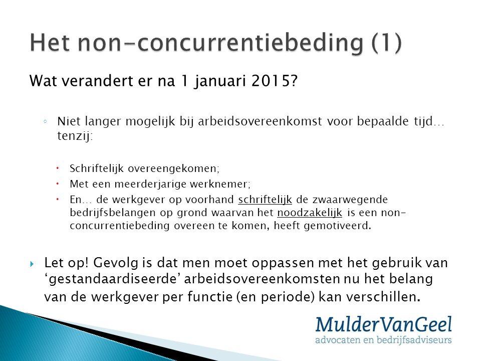 Het non-concurrentiebeding (1)