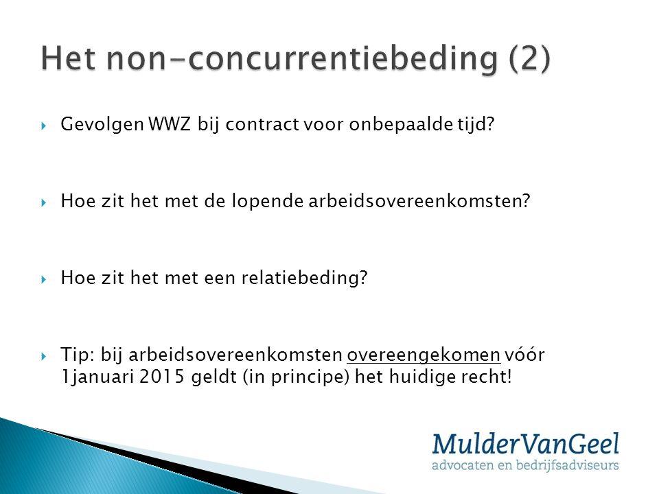 Het non-concurrentiebeding (2)