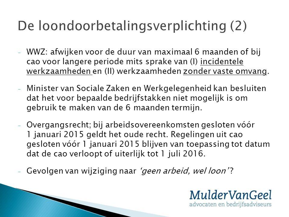 De loondoorbetalingsverplichting (2)