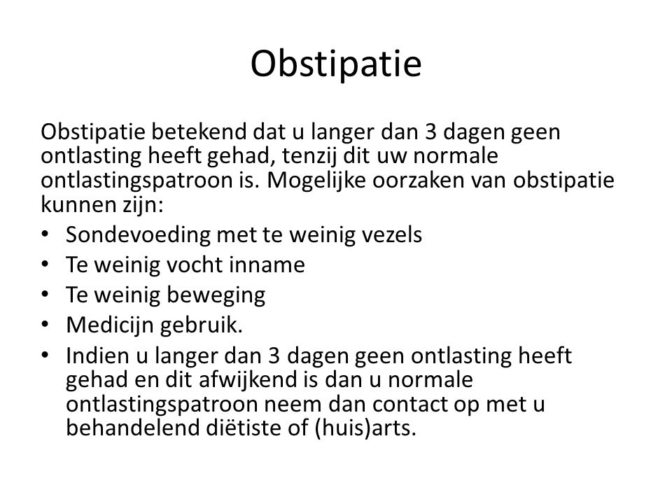 Obstipatie