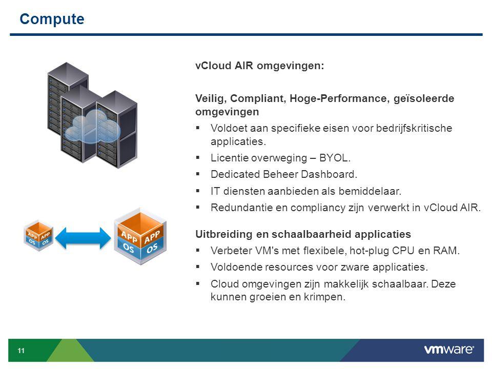 Compute vCloud AIR omgevingen: