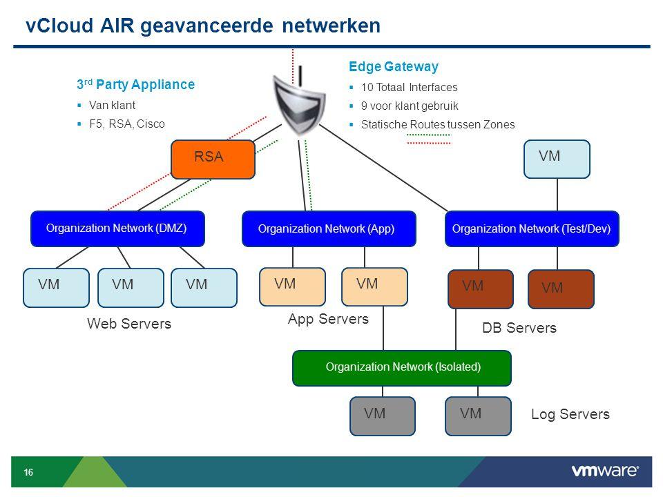 vCloud AIR geavanceerde netwerken