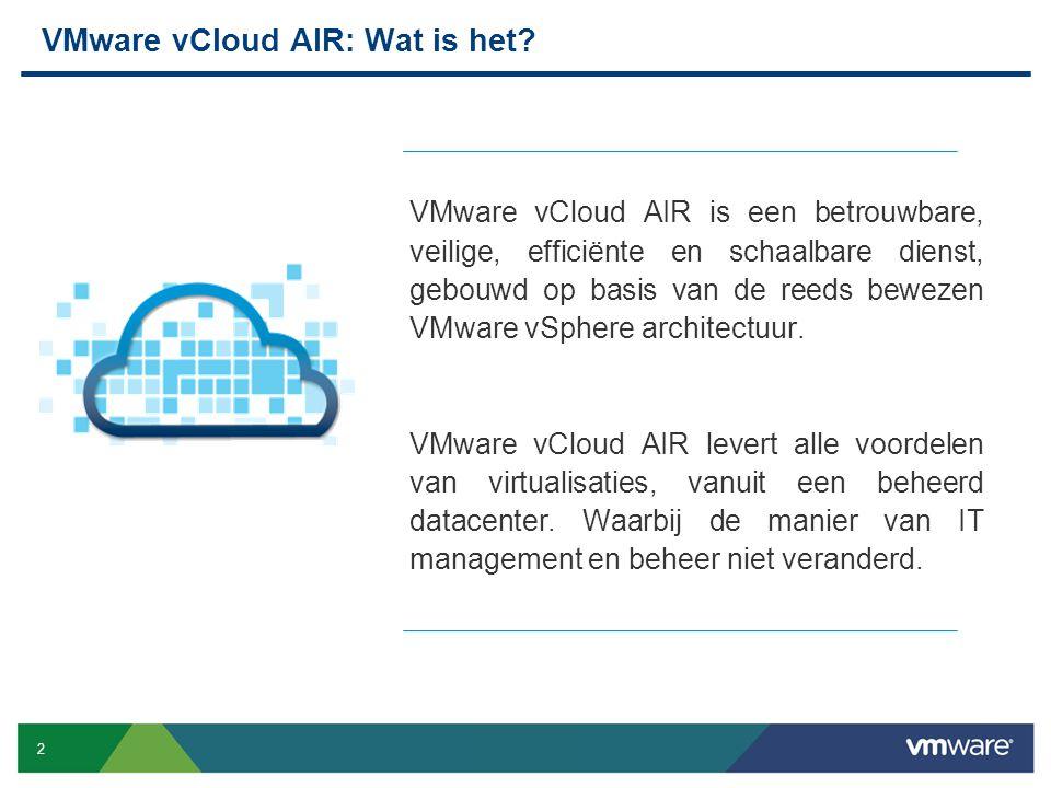VMware vCloud AIR: Wat is het