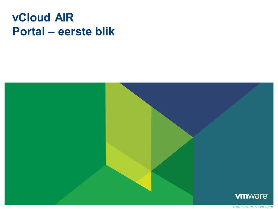 vCloud AIR Portal – eerste blik