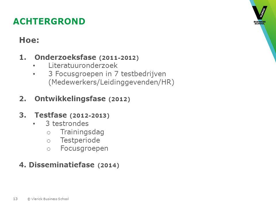 Achtergrond Hoe: Onderzoeksfase (2011-2012) Literatuuronderzoek