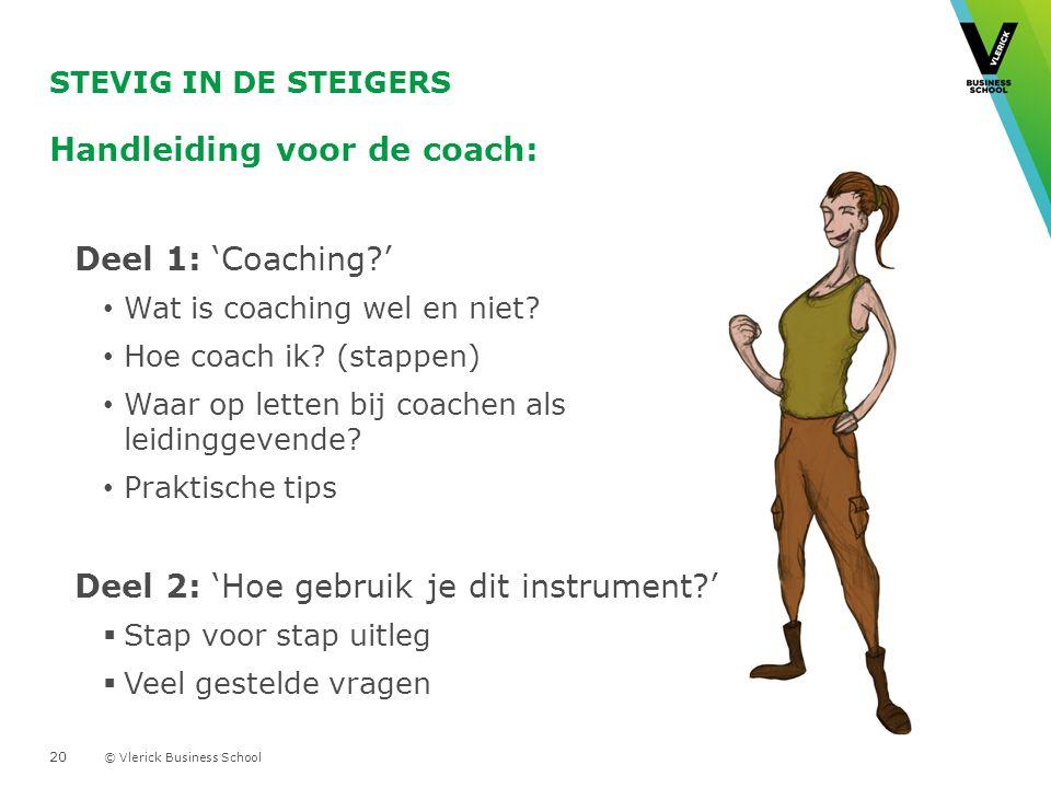 Handleiding voor de coach: Deel 1: 'Coaching '