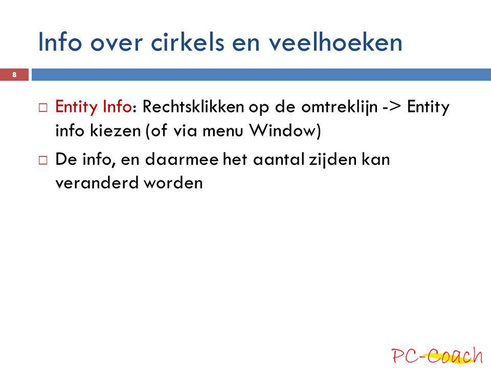 Info over cirkels en veelhoeken