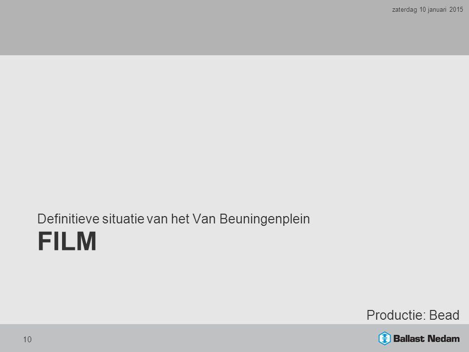 FILM Definitieve situatie van het Van Beuningenplein Productie: Bead