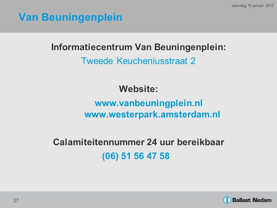 Van Beuningenplein Informatiecentrum Van Beuningenplein: