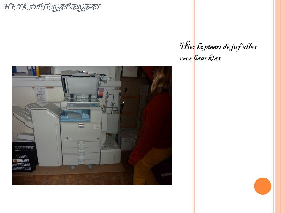 het kopiëraparaat Hier kopieert de juf alles voor haar klas