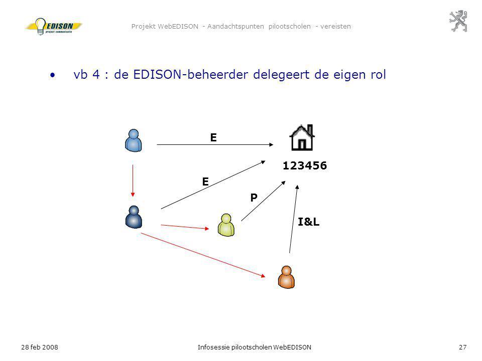 Projekt WebEDISON - Aandachtspunten pilootscholen - vereisten