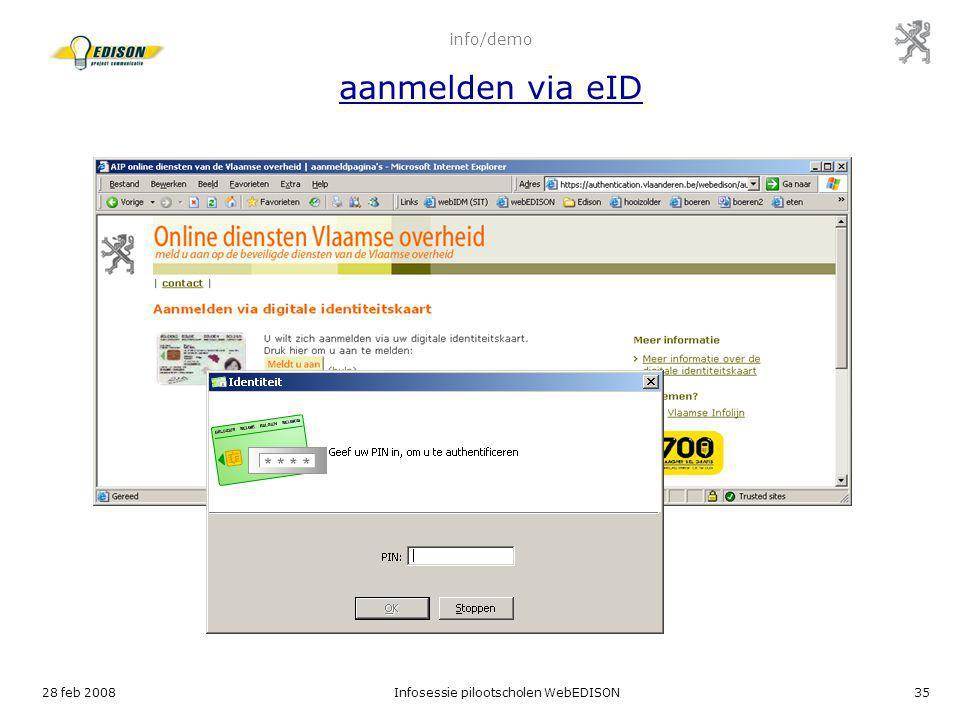 info/demo aanmelden via eID