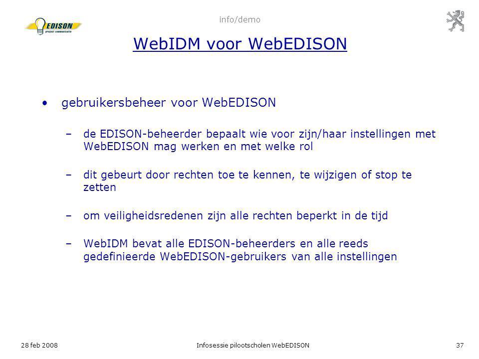 info/demo WebIDM voor WebEDISON