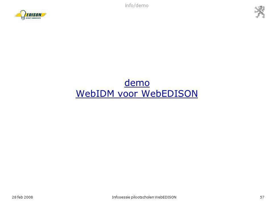 demo WebIDM voor WebEDISON