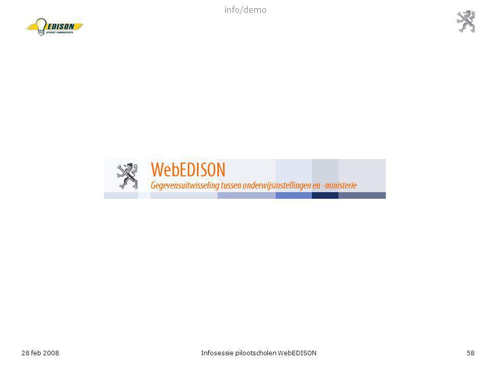 Infosessie pilootscholen WebEDISON