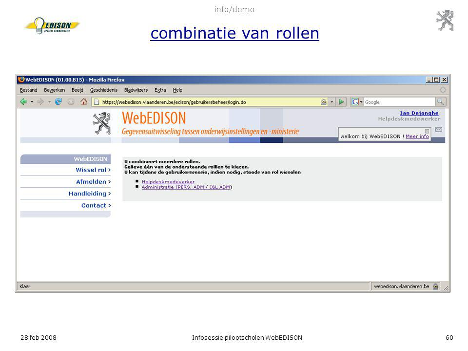 info/demo combinatie van rollen