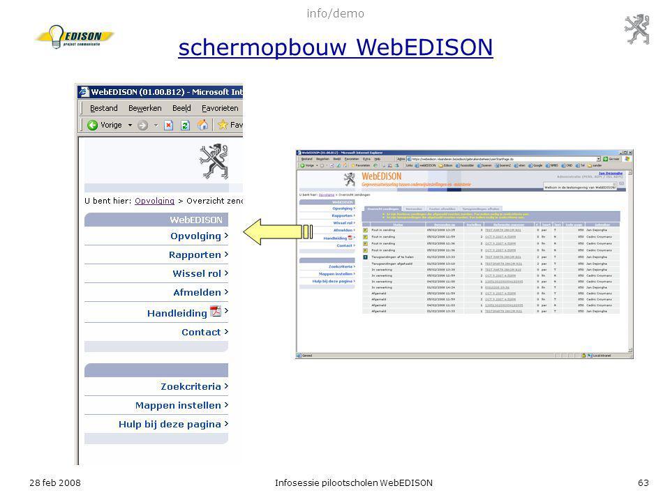 info/demo schermopbouw WebEDISON