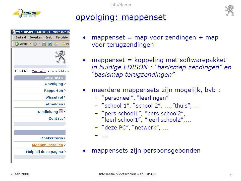 mappenset = map voor zendingen + map voor terugzendingen