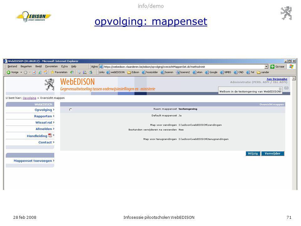 info/demo opvolging: mappenset