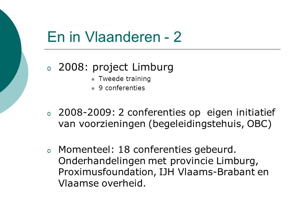 En in Vlaanderen - 2 2008: project Limburg