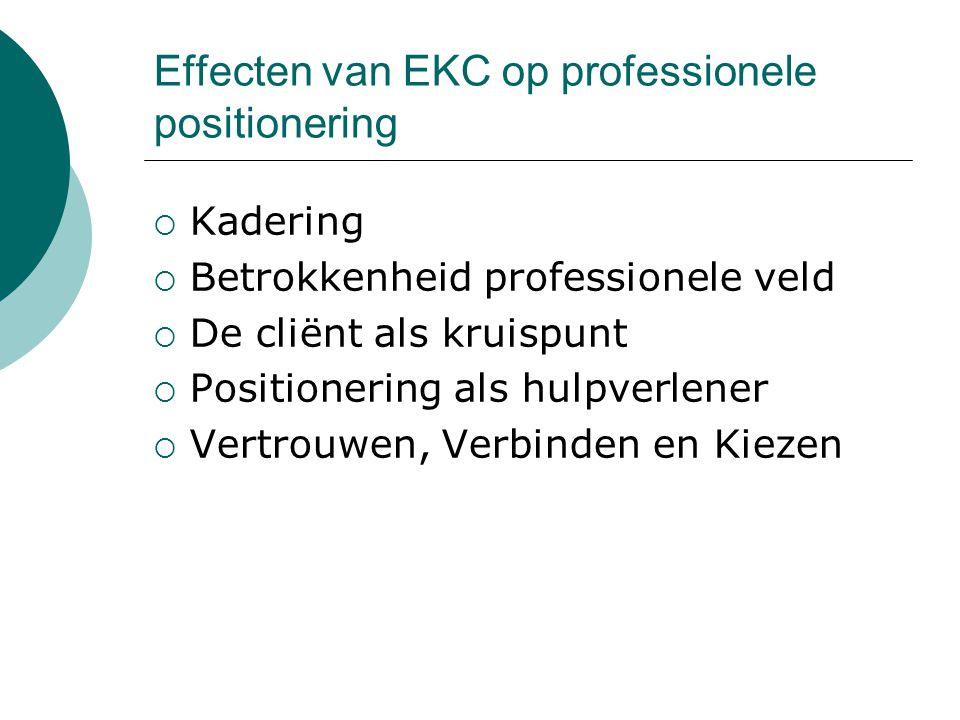 Effecten van EKC op professionele positionering