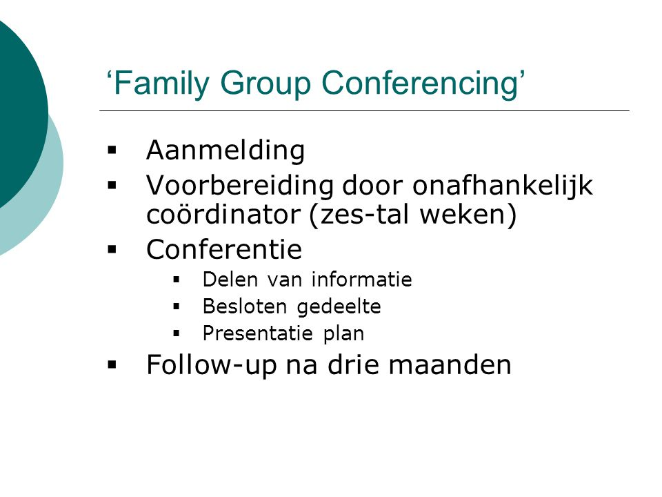 'Family Group Conferencing'