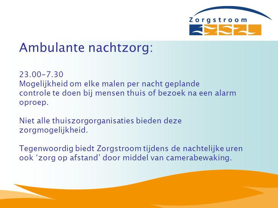 Ambulante nachtzorg: 23.00-7.30