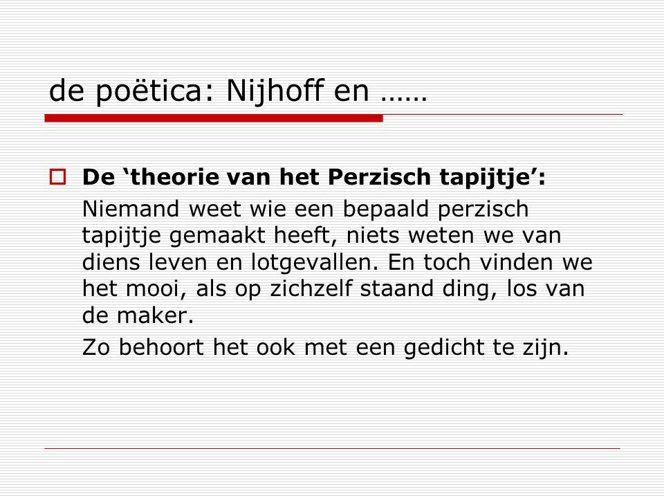 de poëtica: Nijhoff en ……