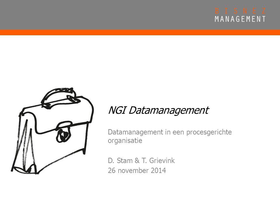 NGI Datamanagement Datamanagement in een procesgerichte organisatie