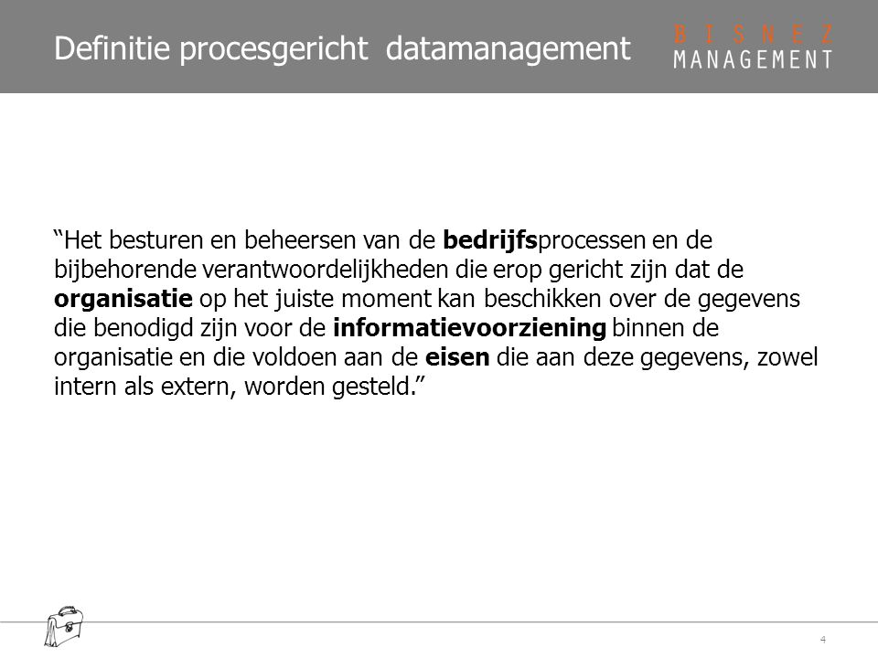Definitie procesgericht datamanagement