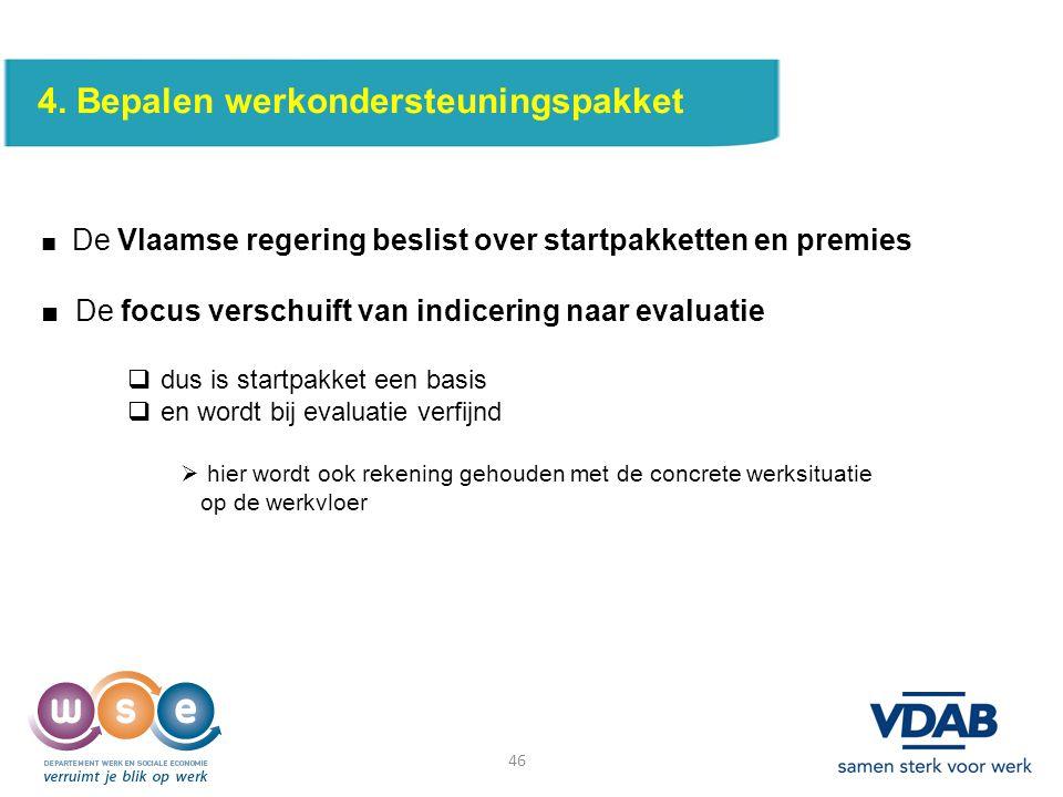 4. Bepalen werkondersteuningspakket