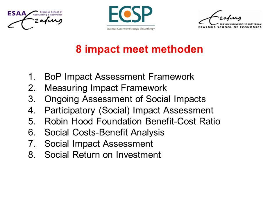 8 impact meet methoden BoP Impact Assessment Framework