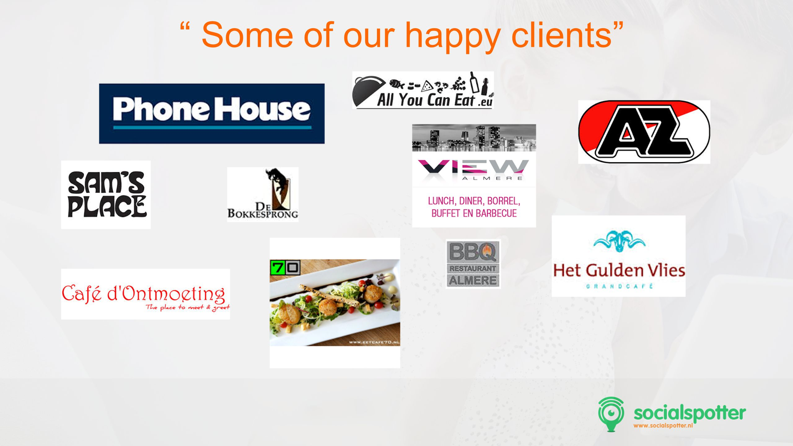 Some of our happy clients