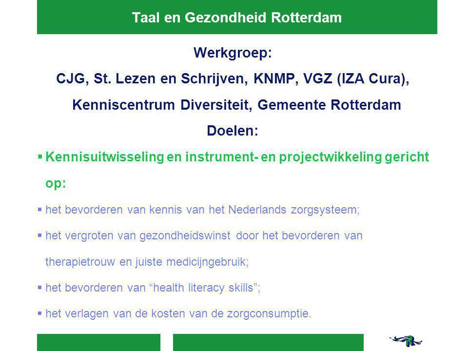 Taal en Gezondheid Rotterdam