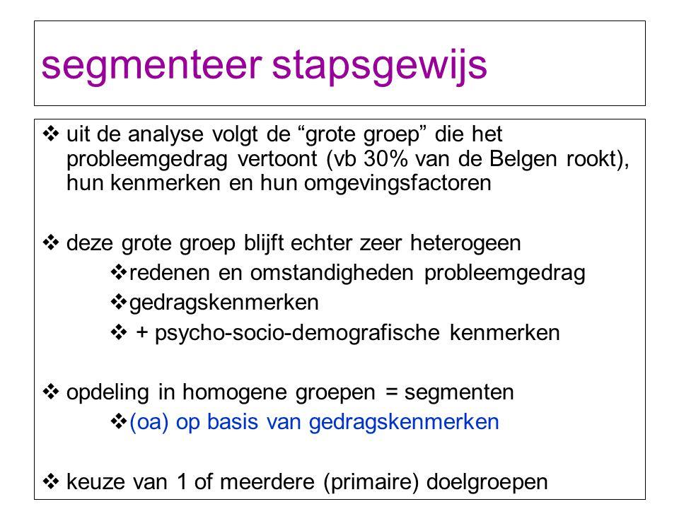 segmenteer stapsgewijs
