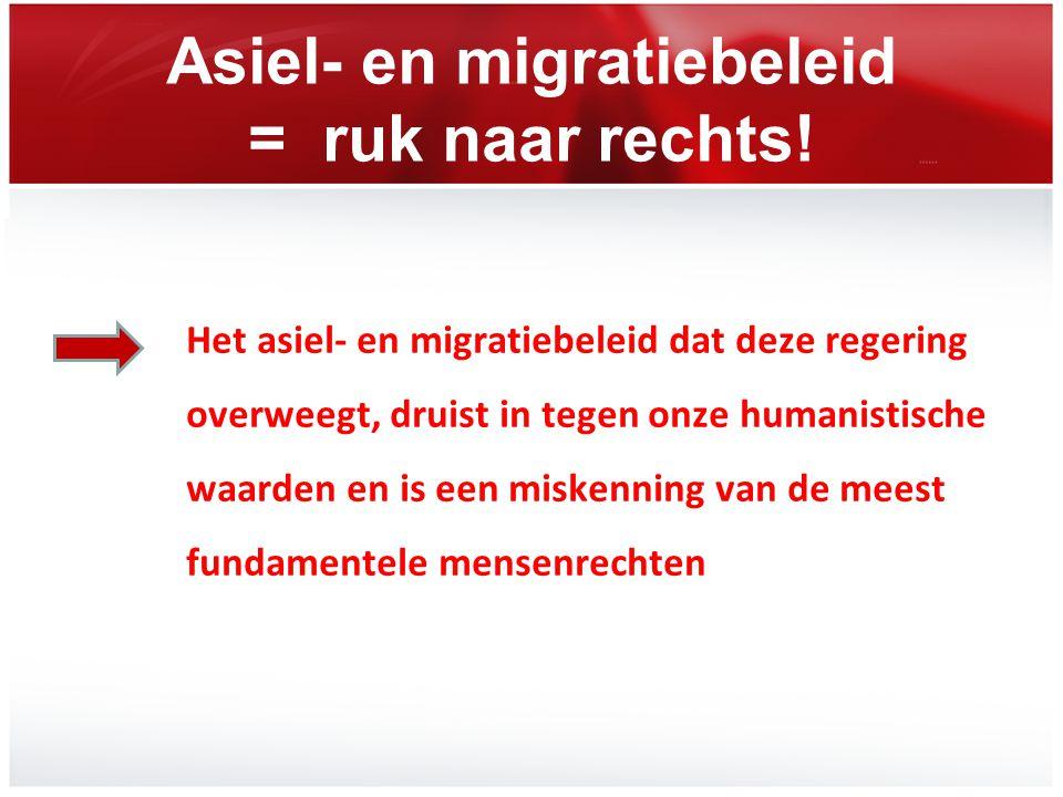Asiel- en migratiebeleid = ruk naar rechts!