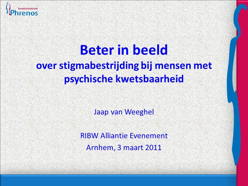 Jaap van Weeghel RIBW Alliantie Evenement Arnhem, 3 maart 2011