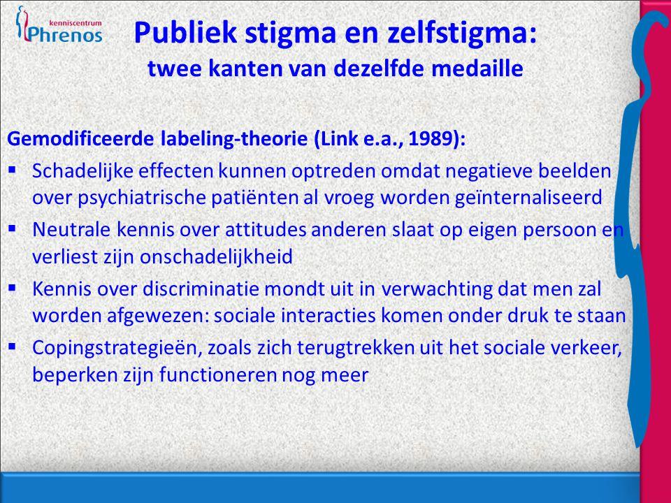 Publiek stigma en zelfstigma: twee kanten van dezelfde medaille