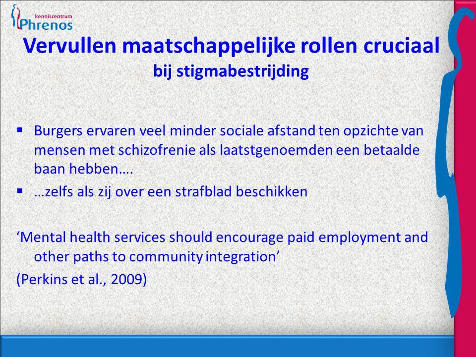 Vervullen maatschappelijke rollen cruciaal bij stigmabestrijding