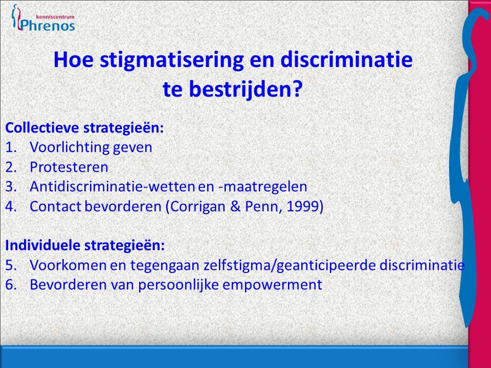 Hoe stigmatisering en discriminatie te bestrijden