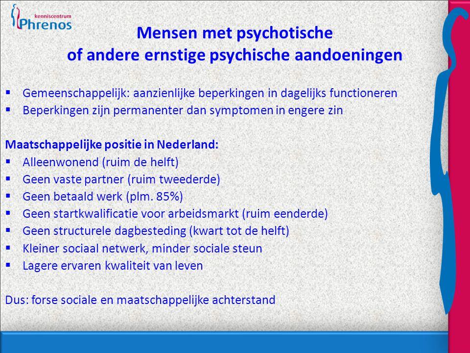 Mensen met psychotische of andere ernstige psychische aandoeningen