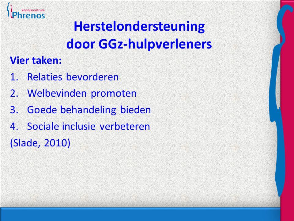 Herstelondersteuning door GGz-hulpverleners