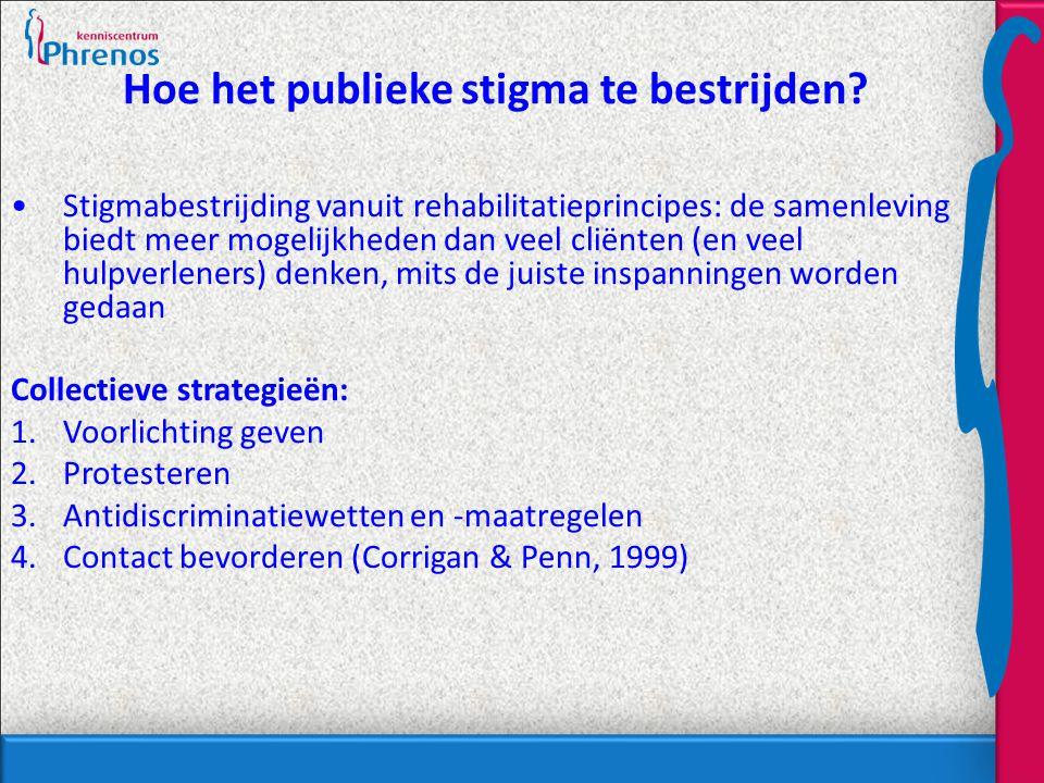 Hoe het publieke stigma te bestrijden