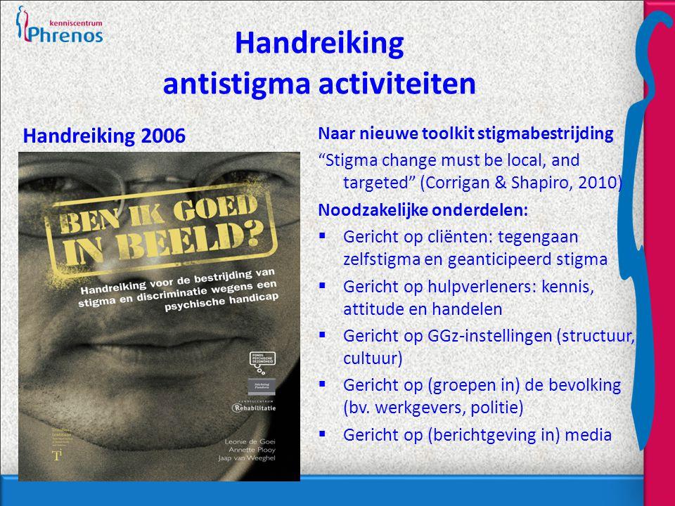 Handreiking antistigma activiteiten
