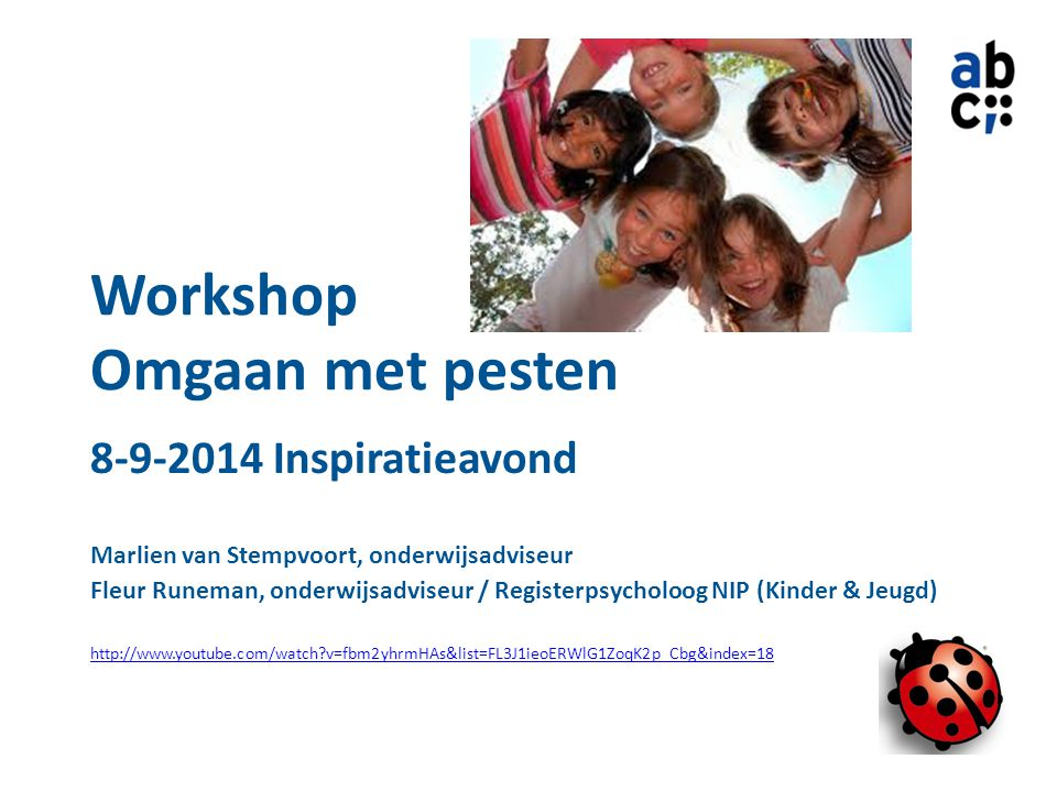 Workshop Omgaan met pesten