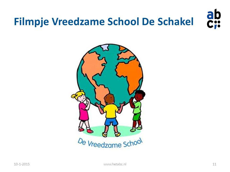 Filmpje Vreedzame School De Schakel