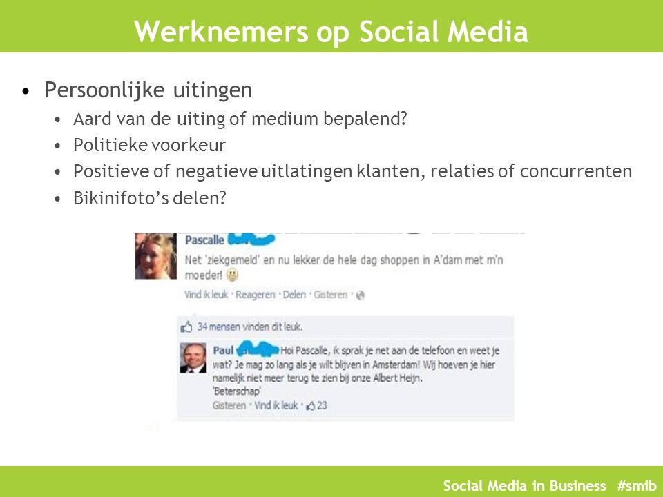 Werknemers op Social Media