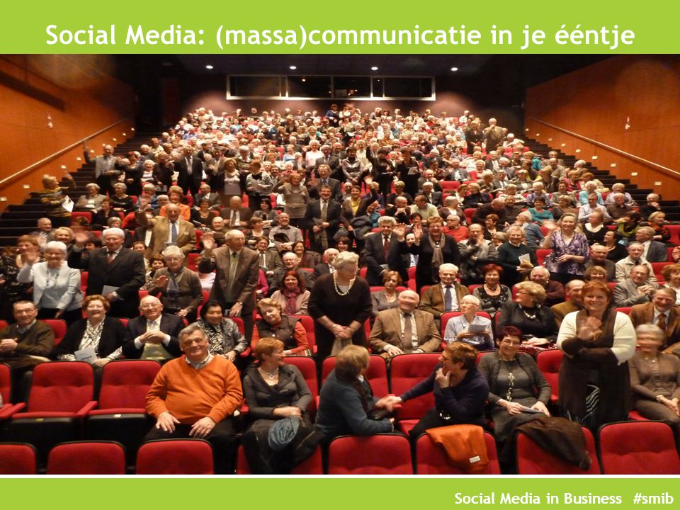 Social Media: (massa)communicatie in je ééntje